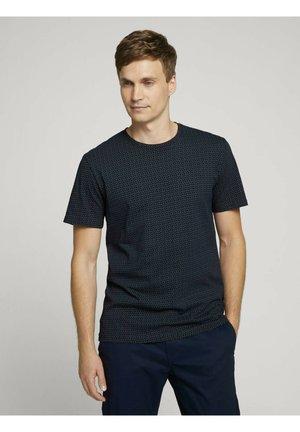 Print T-shirt - navy olive irregular design