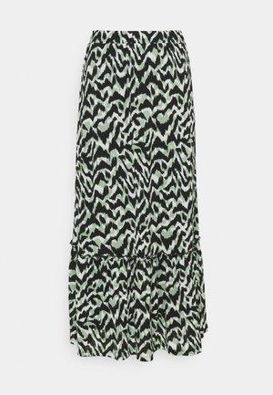 ONLPELLA SKIRT - Maxi skirt - black/green milieu