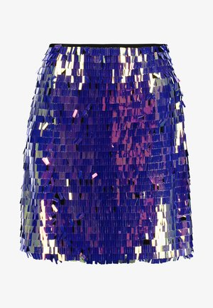 SEQUIN SKIRT - A-line skirt - purple