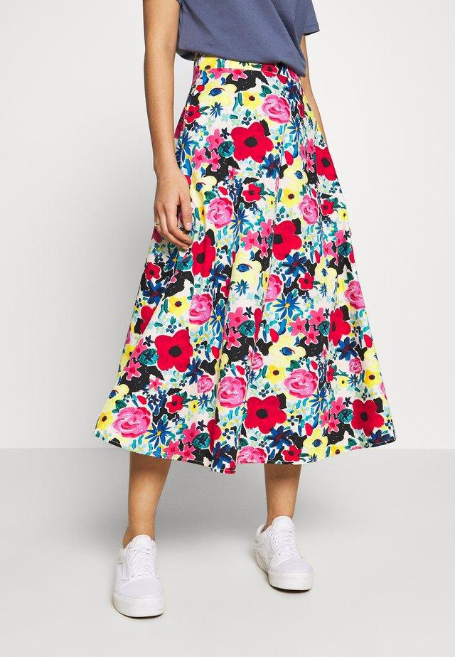 FLOWY SKIRT - Áčková sukně - poppy