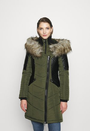 ONLLINETTE HOOD COAT - Wintermantel - peat/brown
