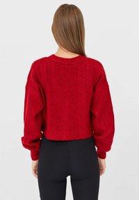 Stradivarius - Cardigan - red - 2