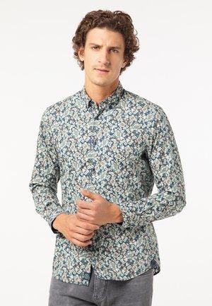 Shirt - blau/oliv