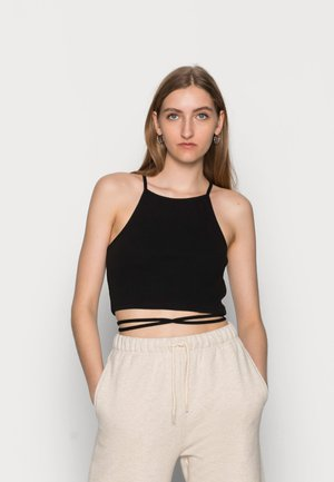 CAMI  WITH TIE DETAIL - Top - black