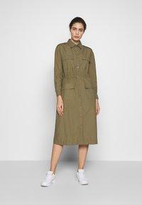 esmé studios - SARAH DRESS - Shirt dress - dusky green - 1