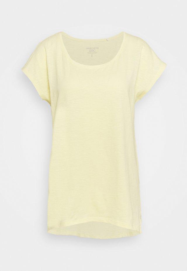 SLUB - T-shirts - light yellow