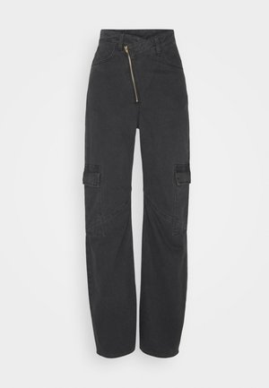 ABEL TROUSERS - Džíny Straight Fit - washed black