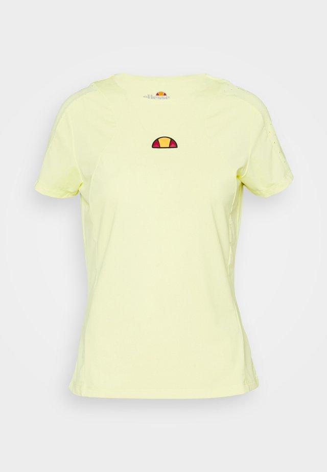 MONTIA TEE - T-shirt basic - light yellow