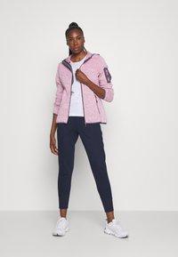 CMP - WOMAN JACKET FIX HOOD - Fleece jacket - pink fluo melange/graffite - 1