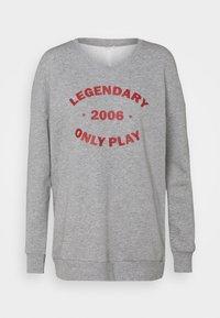 ONLY Play - ONPJARA LONG  - Sweatshirt - medium grey melange/ red orchre - 0