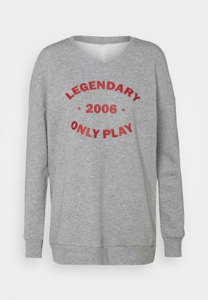 ONPJARA LONG  - Sudadera - medium grey melange/ red orchre