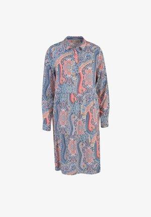 Shirt dress - aqua print