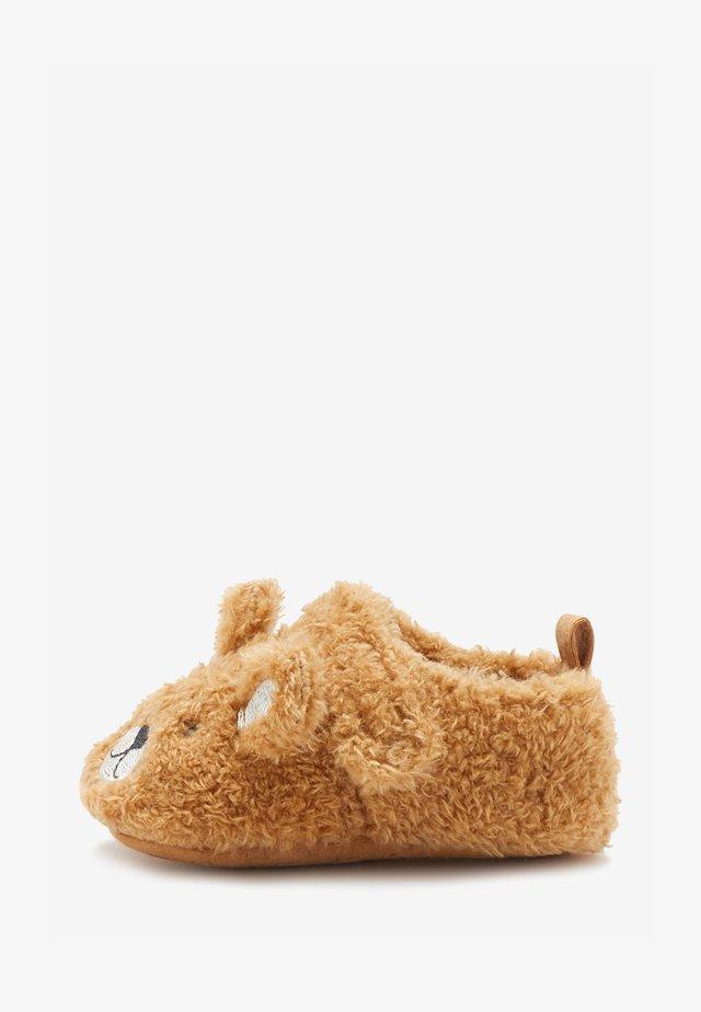 BEAR 3D PRAM  - Pantoffels - brown