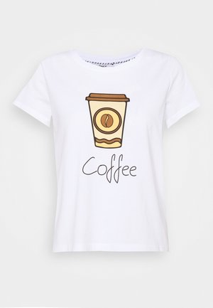 ONLHAPPY ALL  - Print T-shirt - bright white