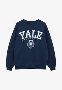 "PULL&BEAR - ""YALE"" IM COLLEGE-STIL - Bluza - dark blue - 4"