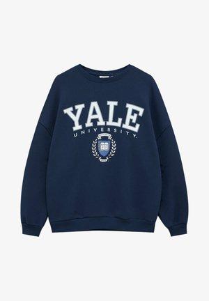 """""""YALE"""" IM COLLEGE-STIL - Sweatshirt - dark blue"""