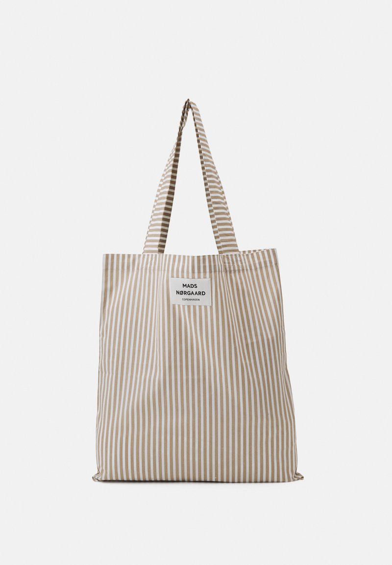 Mads Nørgaard - SACKY ATOMA - Tote bag - white alyssum/travertine