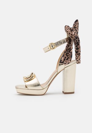 HEBE - Platform sandals - light gold