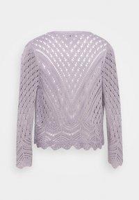 JDY - JDYSUN CROPPED CARDIGAN - Cardigan - lavender gray - 1