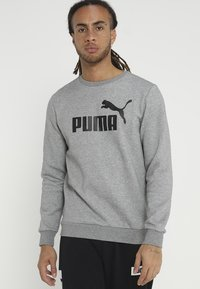 Puma - LOGO CREW BIG LOGO - Felpa - medium gray heather - 0