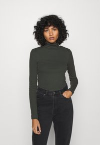 Weekday - VERENA TURTLENECK - Topper langermet - bottle green - 0
