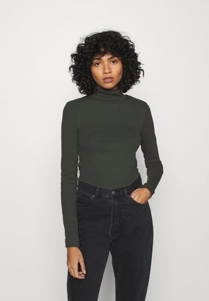 VERENA TURTLENECK - Long sleeved top - bottle green