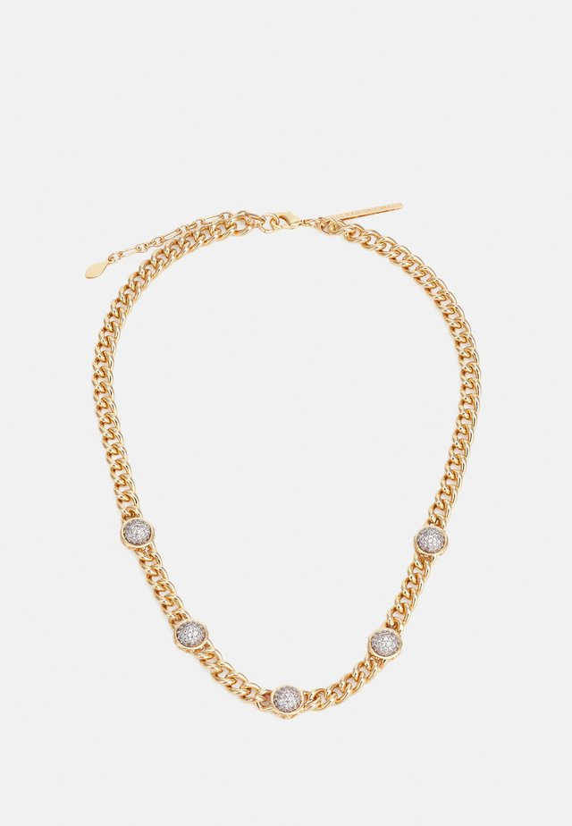 CHAIN COLLAR PAVE STUDDED SETTING - Collier - gold-coloured