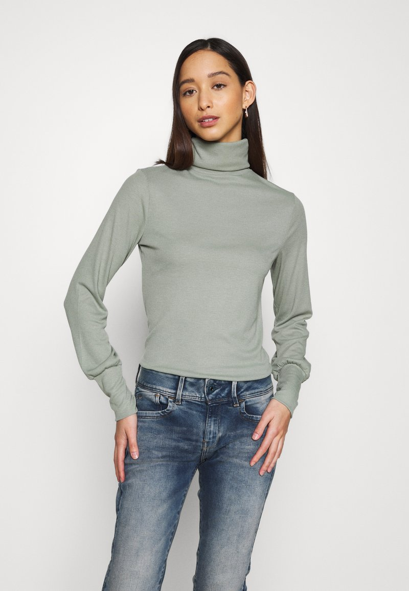 New Look - COSY ROLL NECK - Long sleeved top - light khaki