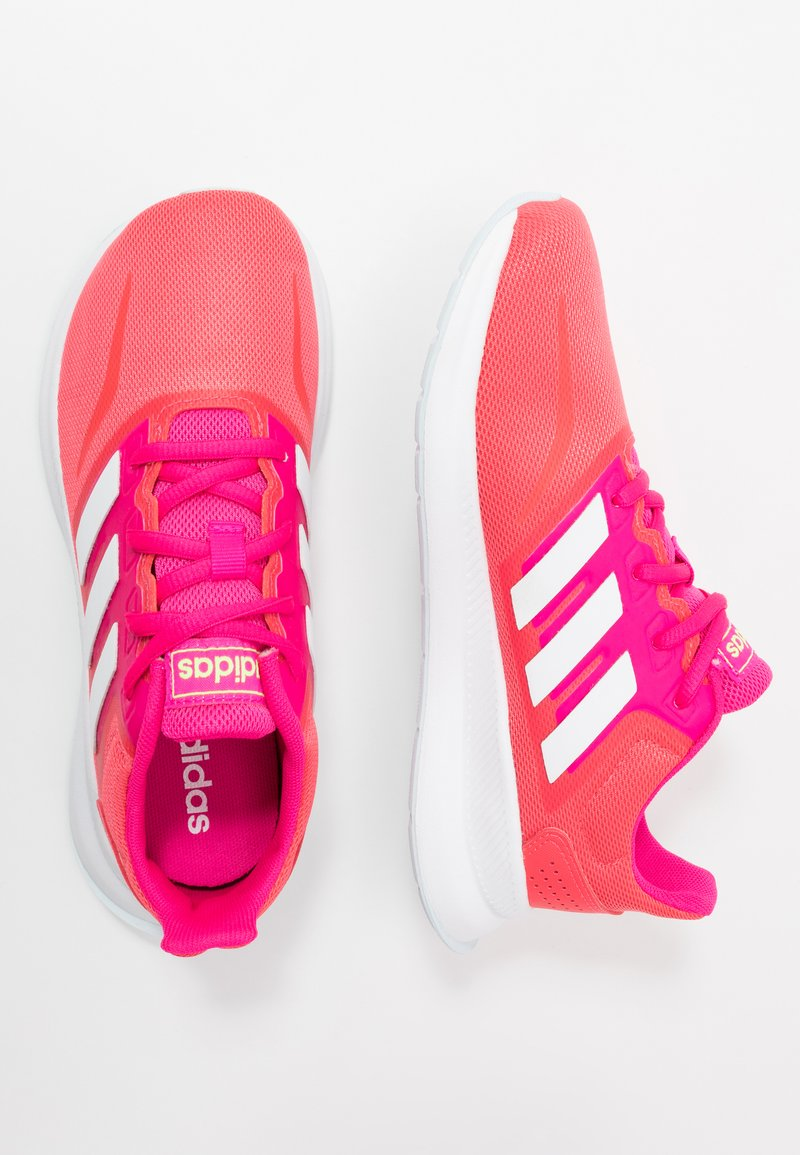 adidas Performance - RUNFALCON  - Zapatillas de running neutras - shock red/footwear white/shock pink