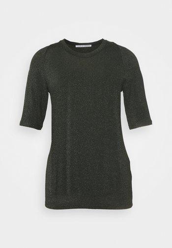 UBA - Basic T-shirt - black/green