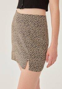 PULL&BEAR - Mini skirt - brown - 3