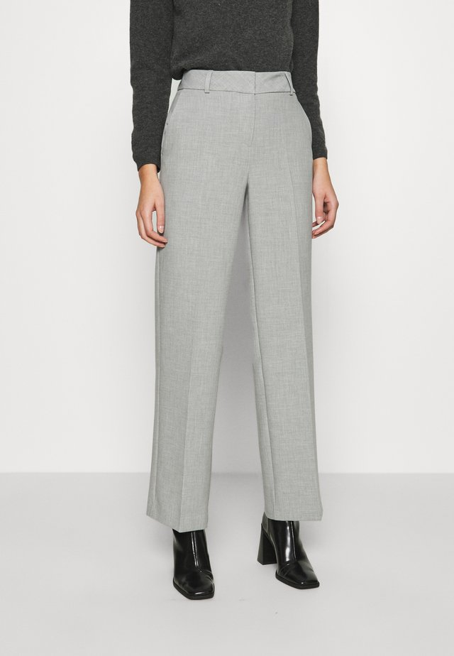 SLFRITA WIDE PANT - Stoffhose - light grey melange