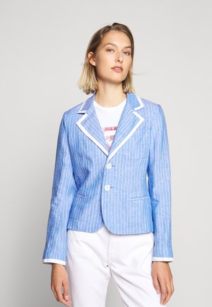 CREY - Blazer - blue/white