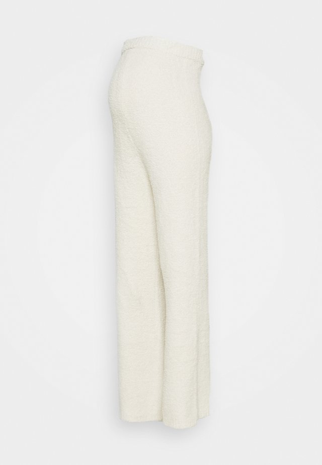 POPCORN WIDE LEG TROUSER - Pantaloni - cream