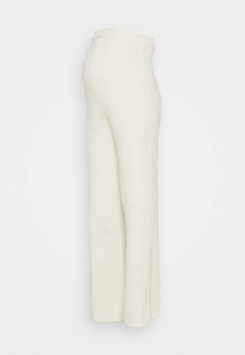 Missguided Maternity - POPCORN WIDE LEG TROUSER - Kangashousut - cream
