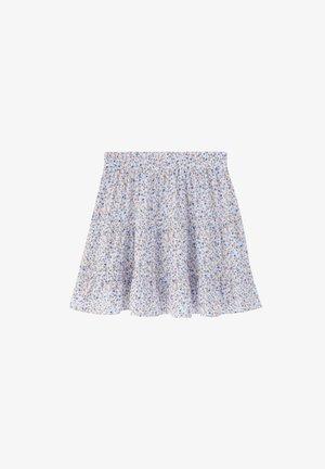 GEBLÜMTER VOLANTS - A-line skirt - white