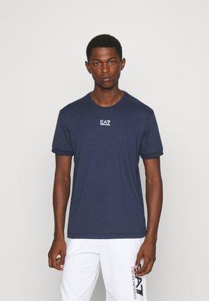 Basic T-shirt - dark blue/white