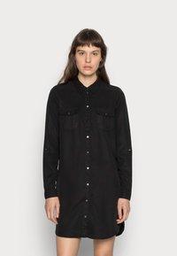 Vero Moda - VMSILLA SHORT DRESS - Shirt dress - black - 0