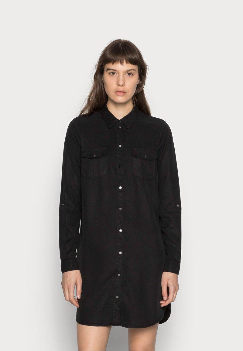 Vero Moda - VMSILLA SHORT DRESS - Shirt dress - black