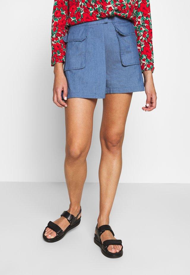 LADIES - Shorts - denim blue
