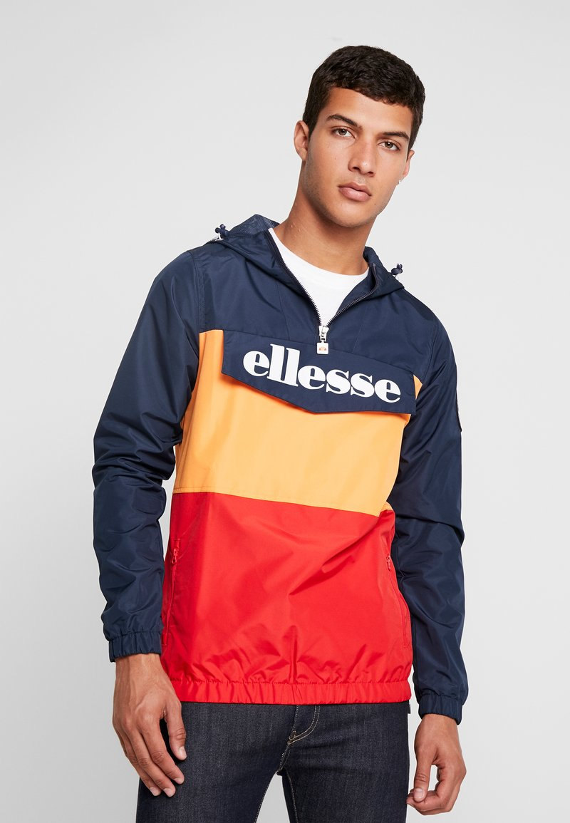 Ellesse - MONTE LEONE - Windbreaker - navy/orange/red