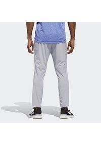 adidas Performance - AEROREADY 3-STRIPES PANTS - Tracksuit bottoms - grey - 1