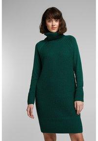 edc by Esprit - COWL NECK - Jumper dress - dark teal green - 0