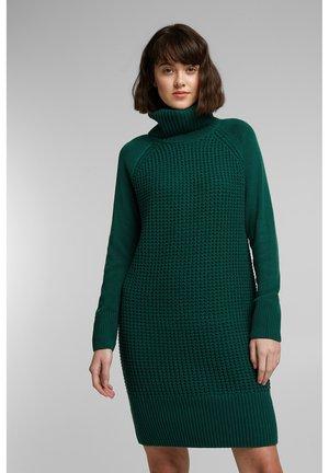 COWL NECK - Vestido de punto - dark teal green