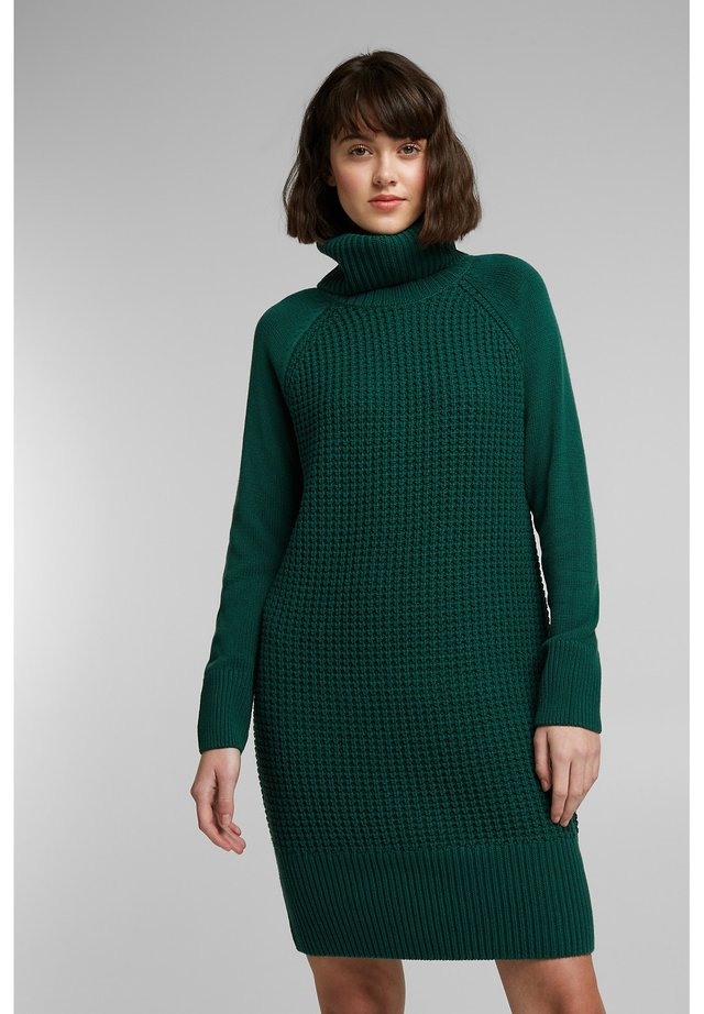 COWL NECK - Jumper dress - dark teal green