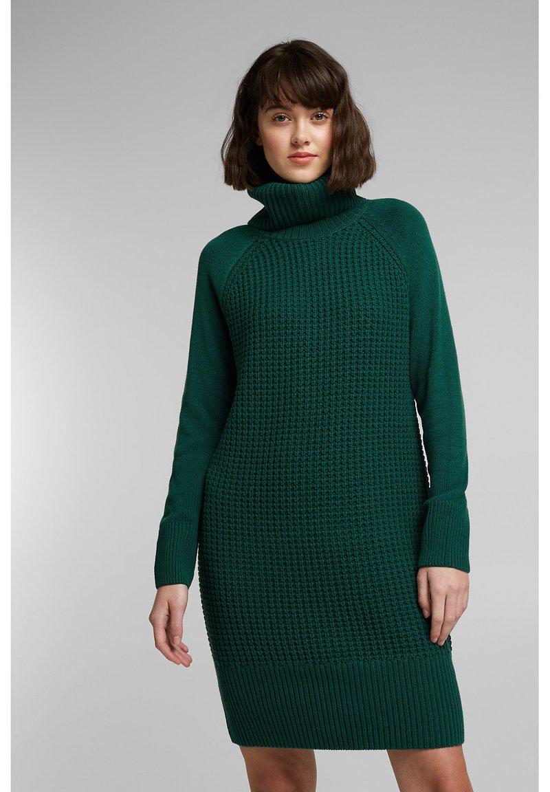 edc by Esprit - COWL NECK - Jumper dress - dark teal green