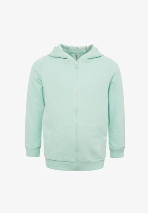 veste en sweat zippée - turquoise