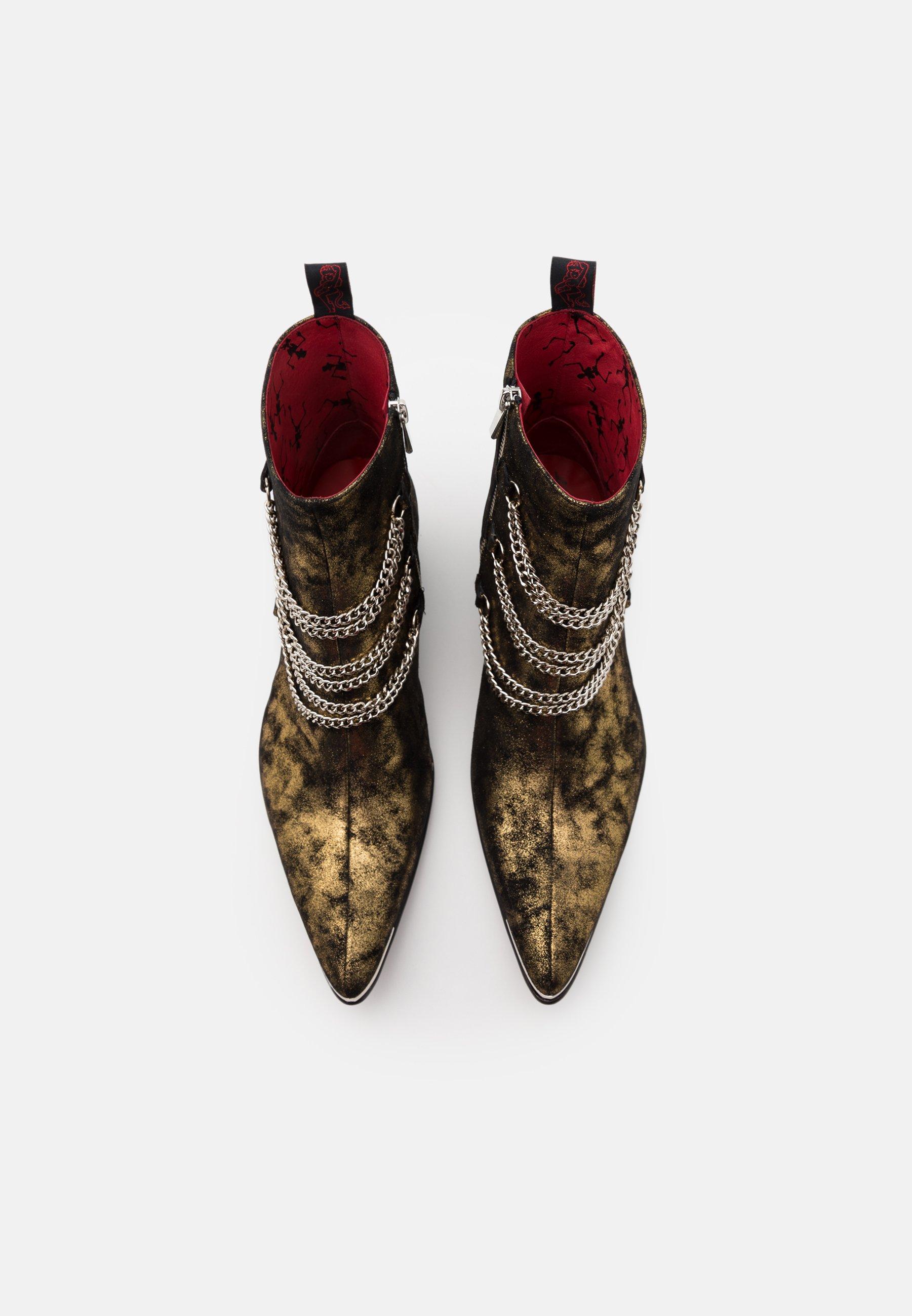 Men SYLVIAN 3 CHAIN SINGLE ZIP - Cowboy/biker ankle boot
