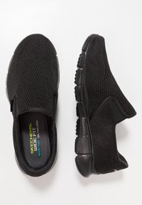 Skechers Sport - EQUALIZER - DOUBLE PLAY - Slip-ons - black - 1