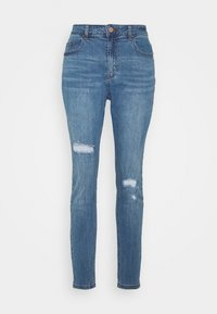Lost Ink Plus - IN CADET WASH WITH RIPS - Jeans Skinny Fit - light denim - 4